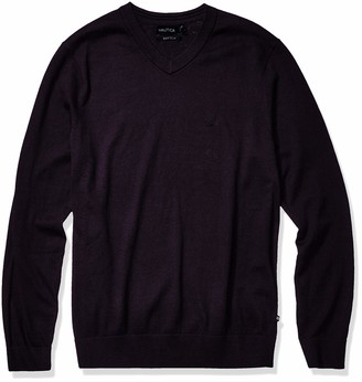 Nautica Men's Big and Tall Navtech Jersey V-Neck Sweater
