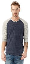 Alternative Men's Raglan 3/4 Sleeve Henley Shirt