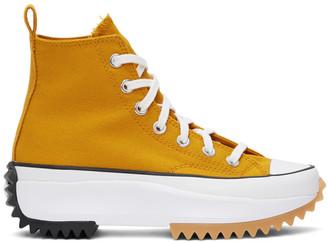 Converse Orange Run Star Hike High-Top Sneakers
