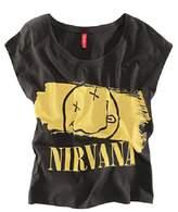 Muke Women's Nirvana Band Smiling Face Print Sleeveless T Shirt M