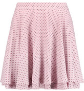 Rebecca Minkoff Ruffled Polka-Dot Crepe Mini Skirt