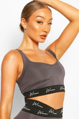 boohoo Active Sports Bra With Strap Detail