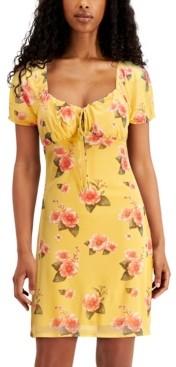 Planet Gold Juniors' Tie-Front Dress