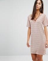 Missguided Cross Over T-Shirt Dress
