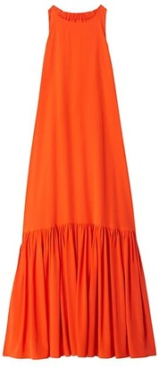 Tibi Crepe de Chine Maxi Dress