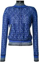 Missoni pattern zipped cardigan - women - Nylon/Viscose/Wool - 42