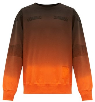 Ambush Ombre Cotton-jersey Sweatshirt - Black Orange