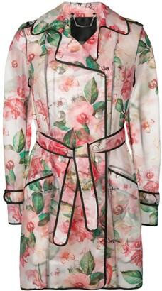 Philipp Plein Floral Trench Coat