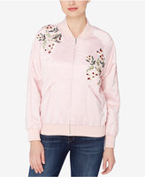 Catherine Malandrino Embroidered Bomber Jacket