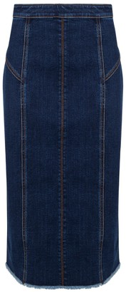 Alexander McQueen Panelled Denim Skirt