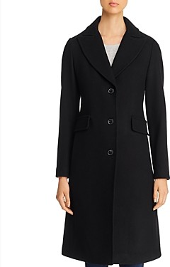 Kate Spade Twill Peaked Lapel Long Coat