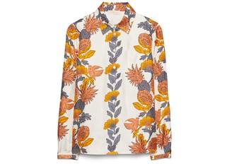 Tory Burch Printed Button-Down Shirt