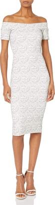 Dress the Population Women's Jemma Lace Off The Shoulder Dress