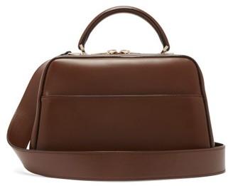 Valextra Serie S Medium Smooth-leather Shoulder Bag - Dark Brown