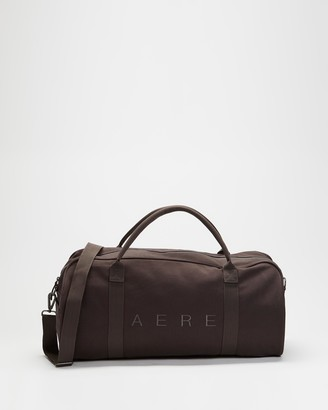 AERE - Black Weekender - Organic Canvas Weekender - Size One Size at The Iconic