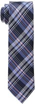 U.S. Polo Assn. Men's White Twill Plaid Tie