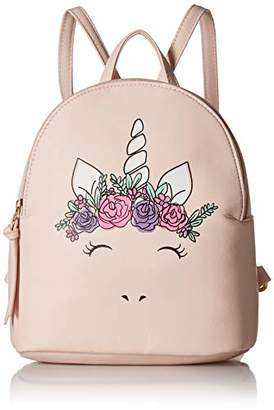 T-Shirt & Jeans Womens Flower Crown Unicorn Backpack