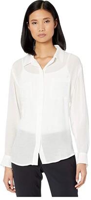 Sanctuary Waverly Boyfriend Shirt (Seafoam) Women's Clothing
