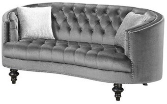 McMahon Curved Loveseat Canora Grey Fabric: Gray