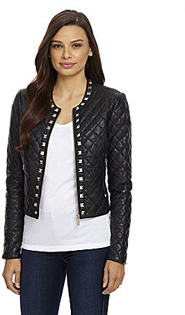 MICHAEL Michael Kors Studded Quilt Leather Jacket