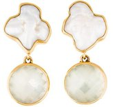 Stephen Dweck 18K One Of A Kind Pearl & Quartz Clip-On Earrings