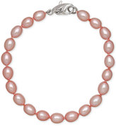 Honora Style Rose Cultured Freshwater Pearl Bracelet in Sterling Silver (7-8mm)