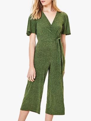 Oasis Animal Print Tie Jumpsuit, Green