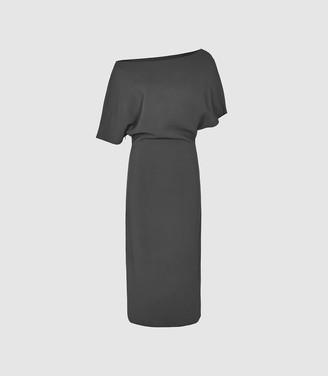 Reiss Madison - Slim Fit Dress in Slate Grey