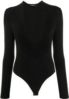 DSQUARED2 deep V-neck fine knit bodysuit
