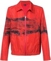 Neil Barrett abstract print jacket