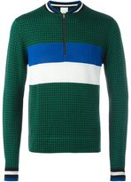 Paul Smith puppytooth zip neck sweater