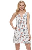 Trixxi Juniors' Floral Gauze Shift Dress