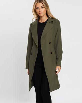 Dorothy Perkins Button Front Mac Coat