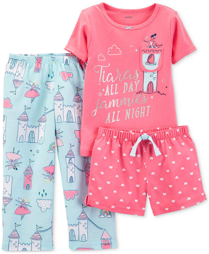 Carter's Carter Toddler Girls 3-Pc. Pajamas Set