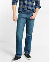 Express classic fit straight leg medium wash jeans