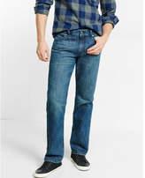 Express straight leg classic fit medium wash jeans
