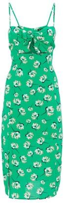 Vix Teresa Floral Cut-Out Midi Dress