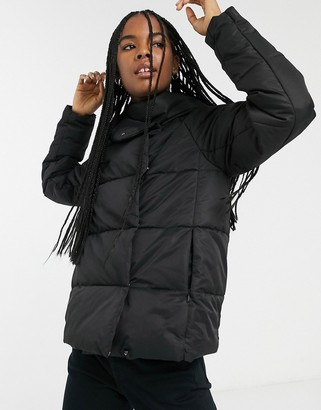 Only quilted padded jacket in black
