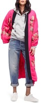 Free People Women's Embroidered Kimono Coat