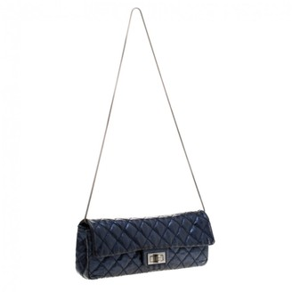 Chanel 2.55 Blue Leather Clutch bags