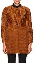 RED Valentino WOMEN'S LAMB FUR COAT