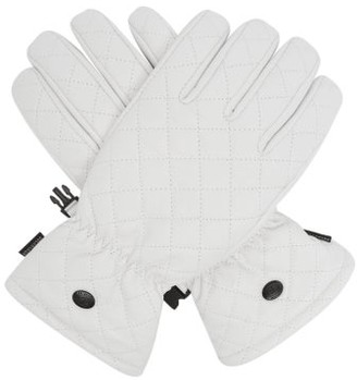 Goldbergh Nishi Quilted-leather Ski Gloves - White
