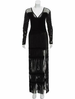 Tom Ford Velvet Long Sleeve Gown w/ Tags Black