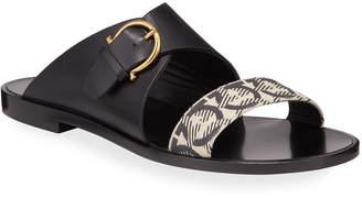 Salvatore Ferragamo Cassie Flat Gancio Slide Sandals
