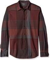 Calvin Klein Jeans Men's Exploded Autumn Plaid Long-Sleeve Button-Front Shirt