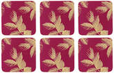 Sara Miller Etched Leaves Coasters, Set of 6
