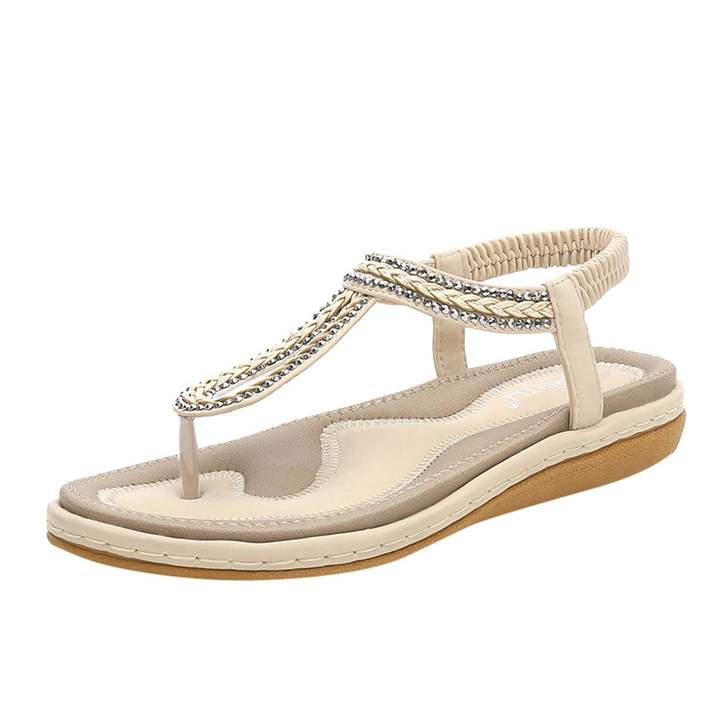 c04970204ba7f SERYU Wedges Sandals Womens Casual Knit Elastic Band Flip Flops Work Shoes