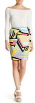Nine West Scuba Crepe Pattern Skirt