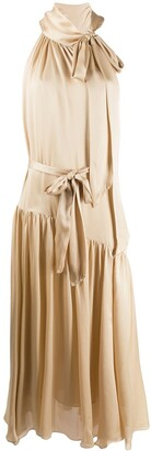 Zimmermann Bow Detail Drape Dress