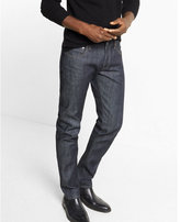 Express slim straight indigo selvedge jean